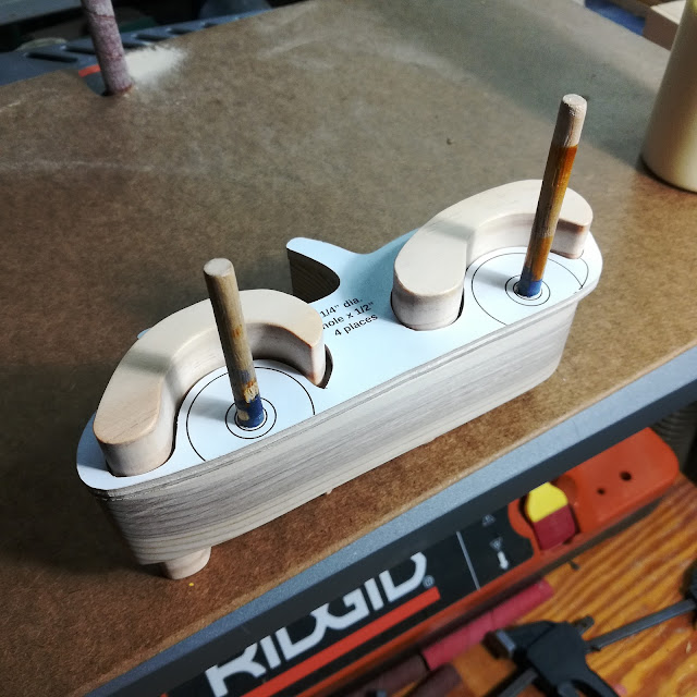 Handmade Wood Toy Car Roadster Test Fitting Fenders Before Glue Is Applied