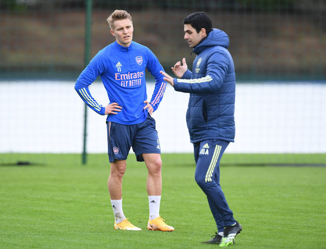 I am happy with Odegaard  - Mikel Arteta
