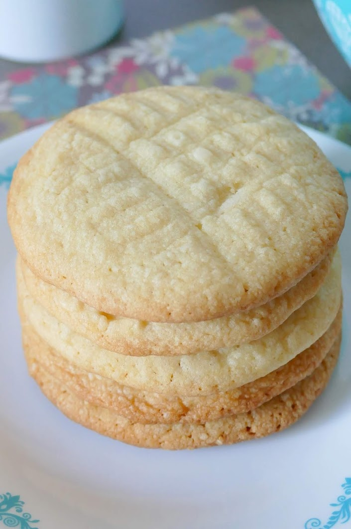 These delicious, buttery cookies are crunchy and perfectly sweet! Great for Christmas cookie exchanges, lunch boxes, snack and parties! Also tasty with buttercream frosting and sprinkles on top!