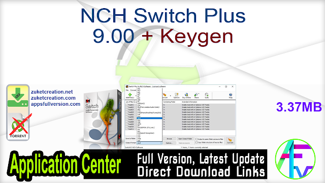 NCH Switch Plus 9.00 + Keygen