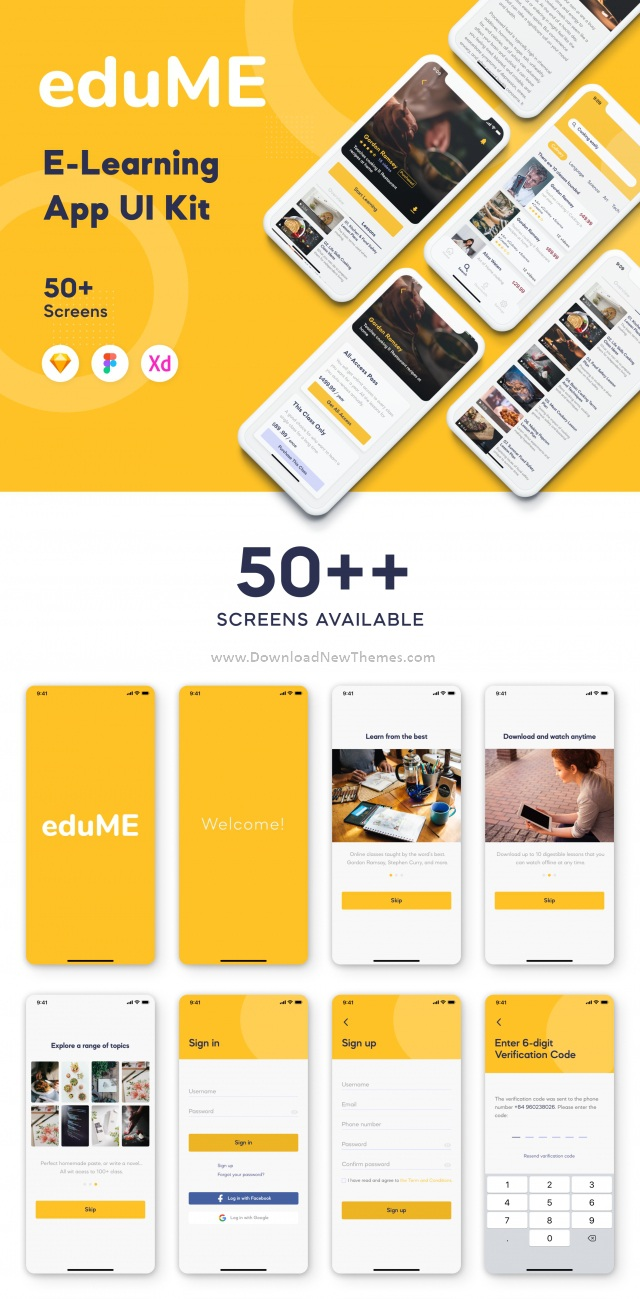 E Learning App Mobile UI Kit