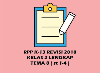 Download RPP Kelas 2 SD/MI Tema 8 Kurikulum 2013 Revisi 2018