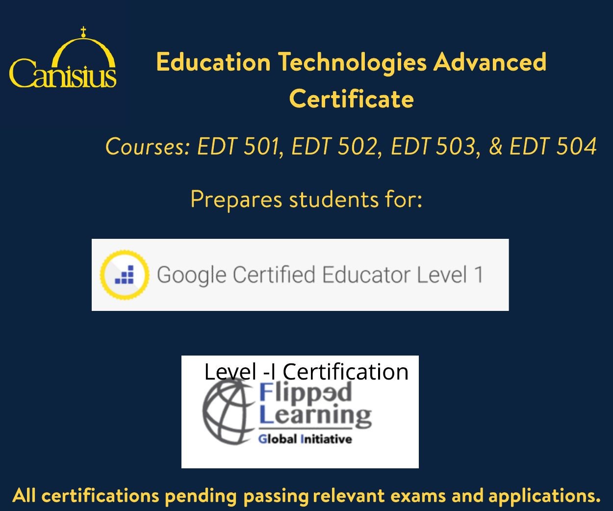 Canisiusedtech earn ctle credit google educator level 1 about the education technologies and emerging media program at canisius college the education technologies and emerging media programs are innovative and xflitez Images