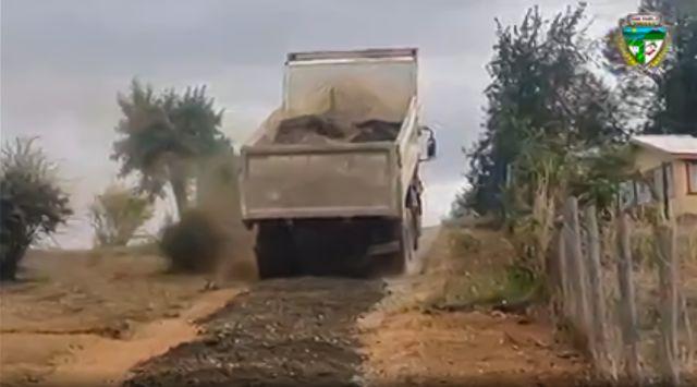 Relleno de camino rural