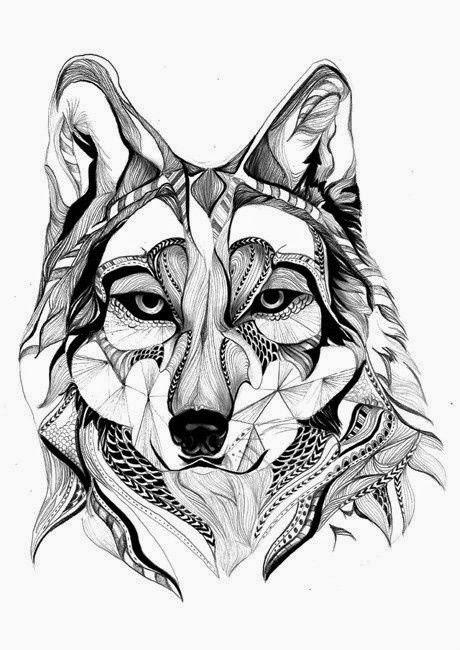 Volwassen Kleurplaat K Zentangle Gross Katze Und Wolf Bilder Fashion And