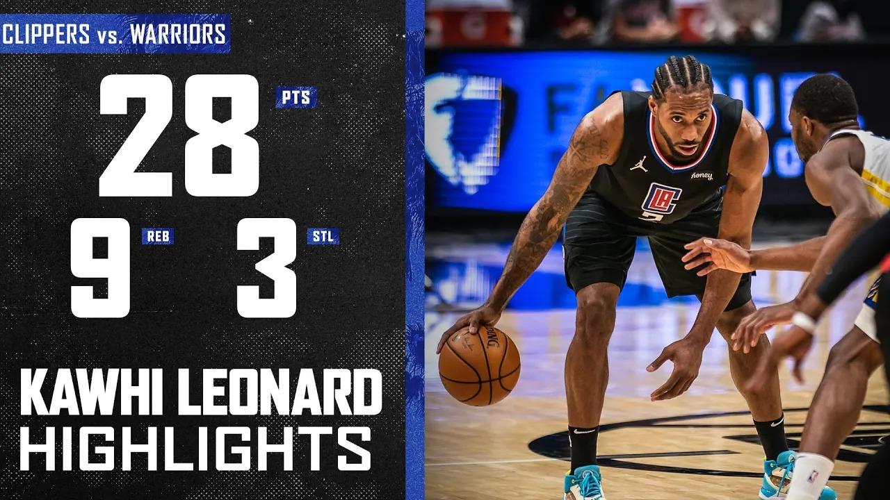 Kawhi Leonard 28pts 9reb 3stl vs GSW | March 11, 2021 | 2020-21 NBA Season