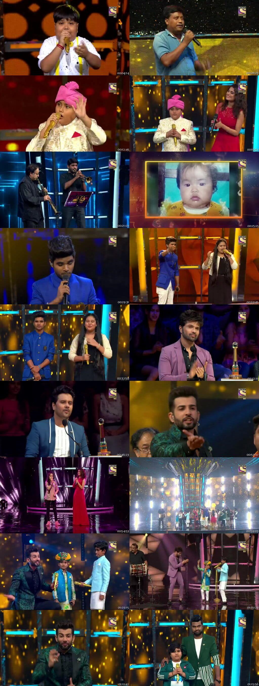 Screenshots Of Hindi Show Superstar Singer 21st July 2019 Episode 08 300MB 480P HD