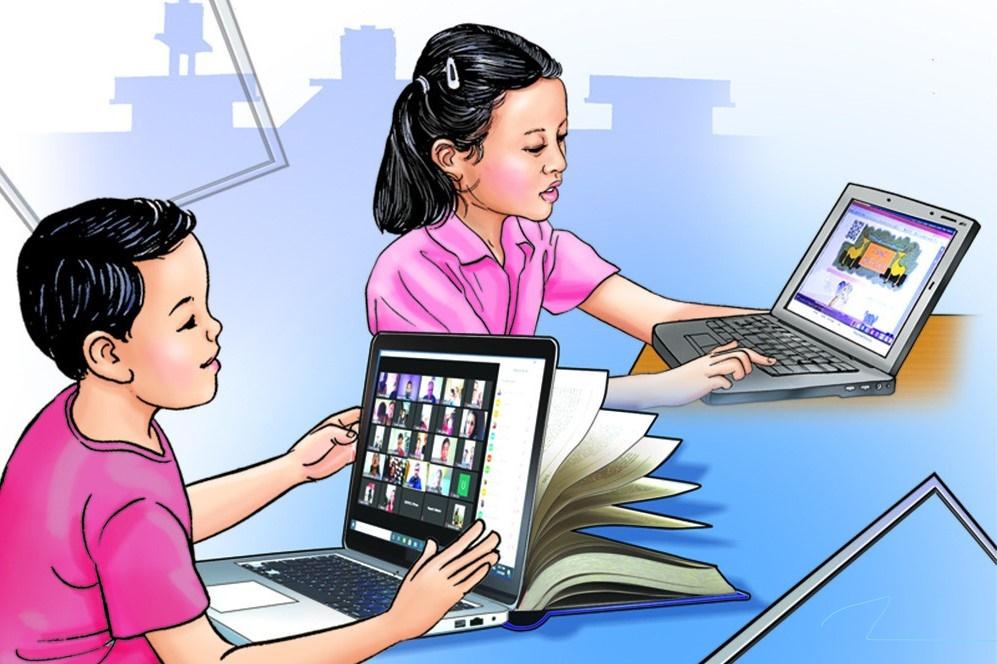 अनलाइन कक्षाले बालबच्चाको स्वास्थ्यमा पर्ने जोखिम यसरि कम गर्न सकिन्छ