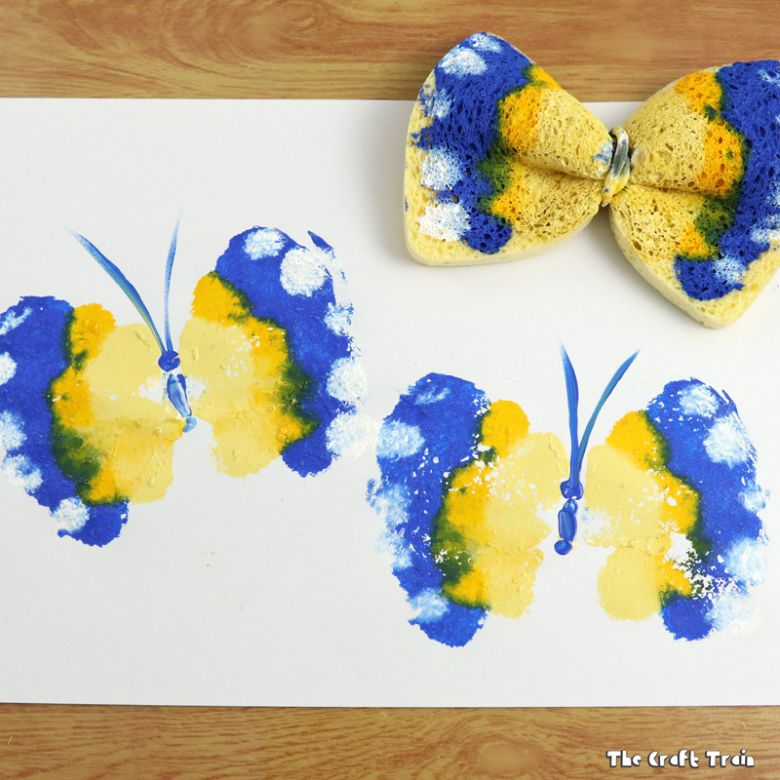 butterfly printing craft