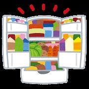 詰め込みすぎの冷蔵庫のイラスト