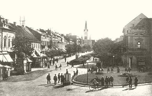 Мукачево. Памятники на площади до Второй мировой войны
