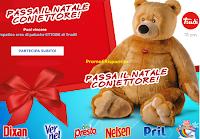 Logo Concorso ''Passa il Natale con Ettore'': vinci 215 peluche Orso Trudi