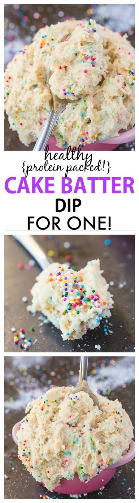 Healthy Cake Batter Dip For One