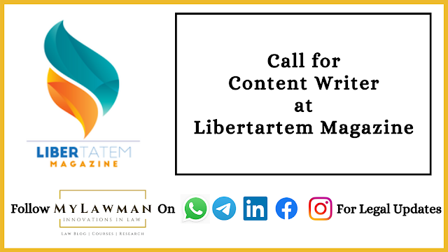 Call for Content Writer at Libertartem Magazine [Apply Soon]