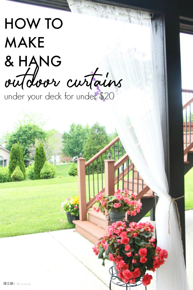 How to hang outdoor curtains