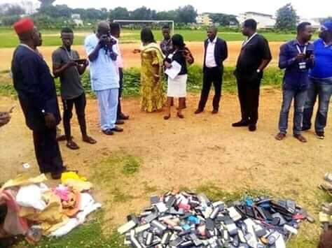 Poly Ibadan Management Burns All Phones Seized From Students During Examination