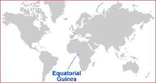Gambar Peta letak Guinea Khatulistiwa