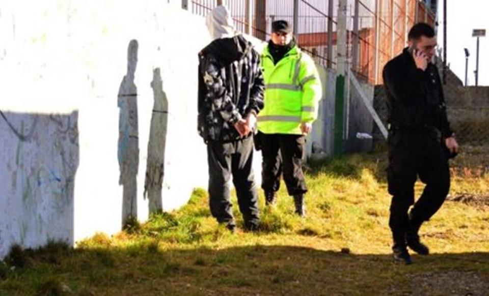 Detenido por grafitero