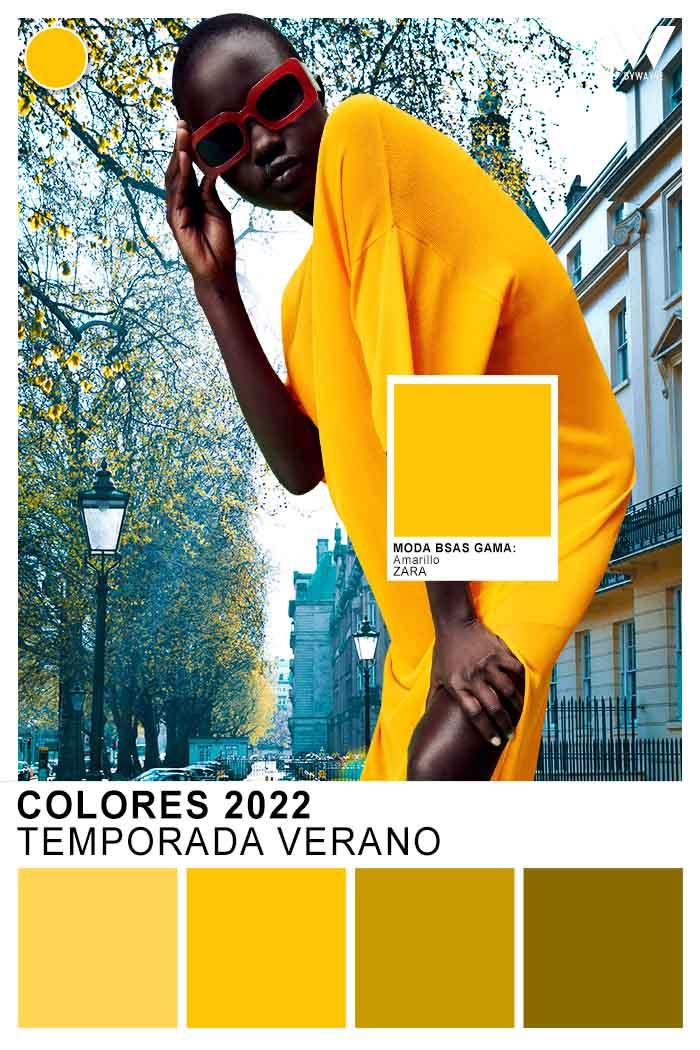 Colores de moda verano 2022 amarillos
