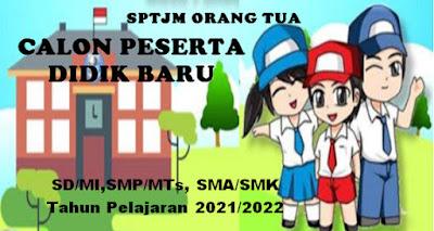 SPTJM Orang Tua SD/MI,SMP/MTs,SMA/MA,SMK/MAK