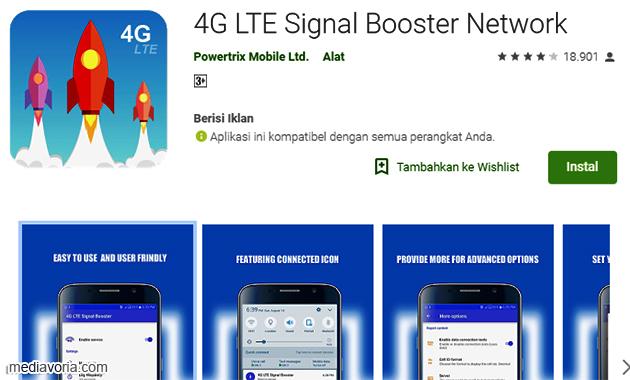 Cara Memasang Aplikasi 4G yangTersedia di Google Play Store