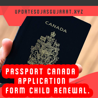 Passport Canada Application Form Child Renewal.