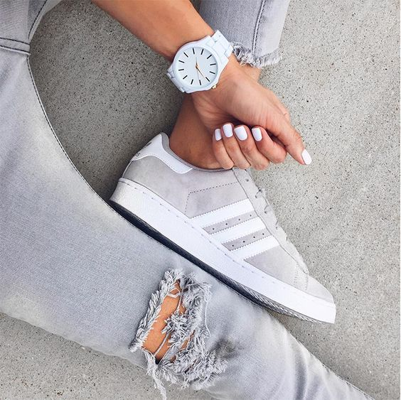 gray adidas sneakers