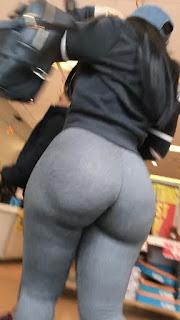 Voyeur colas grandes calzas entalladas via publica