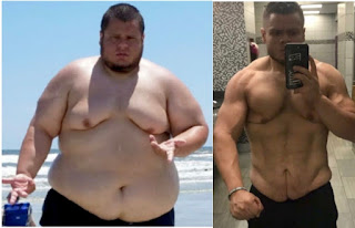Obese man totally different after losing 20 stone naturally - Azi Base News