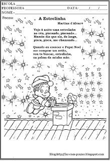 Poesia a estrelinha-natal