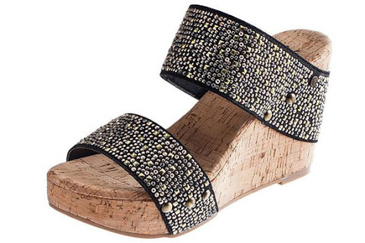 Cork Platform Wedge Sandals