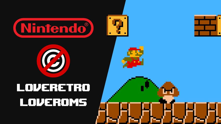 nintendo console rom sites copyright lawsuit