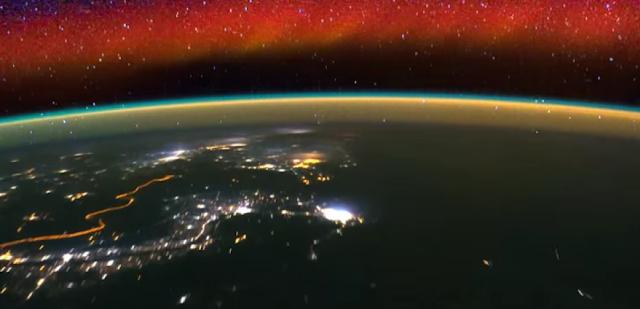 A Terra vista do espaço desde a ISS