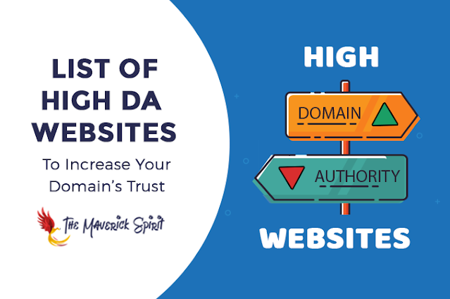 List of 186+ High Domain Authority Sites to Get DoFollow Backlinks!
