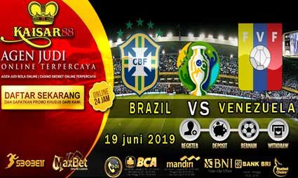 PREDIKSI BOLA TERPERCAYA BRAZIL VS VENEZUELA 19 JUNI 2019