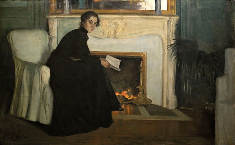 Santiago Rusiñol - Romantic Novel (c.1894)