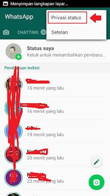 supaya status whatsapp tidak diketahui beberapa kontak