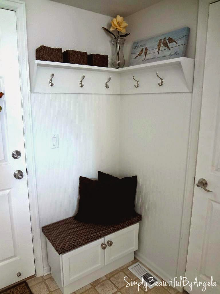 Simply Beautiful By Angela Building A Corner Mudroom