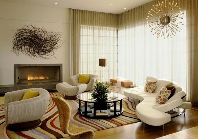 18 ideias de salas modernas com cortinas decora o e ideias for Cortinas transparentes salon