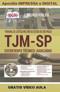 Apostila TJM-SP Escrevente Técnico Judiciário 2016