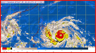 Satellite update of Typhoon Yolanda