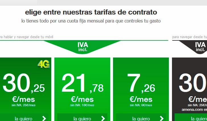 Tarifas AMENA febrero 2014 (con IVA)