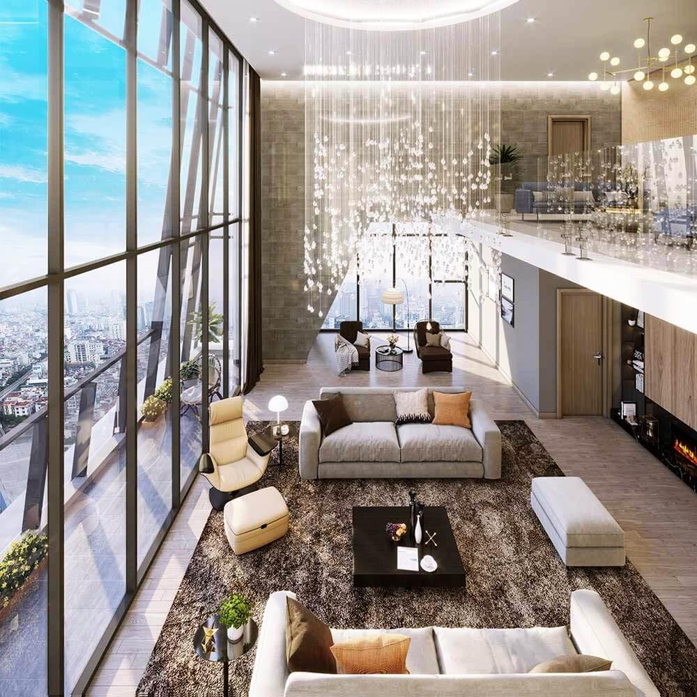 Thiết kế căn hộ Duplex Grandeur Palace