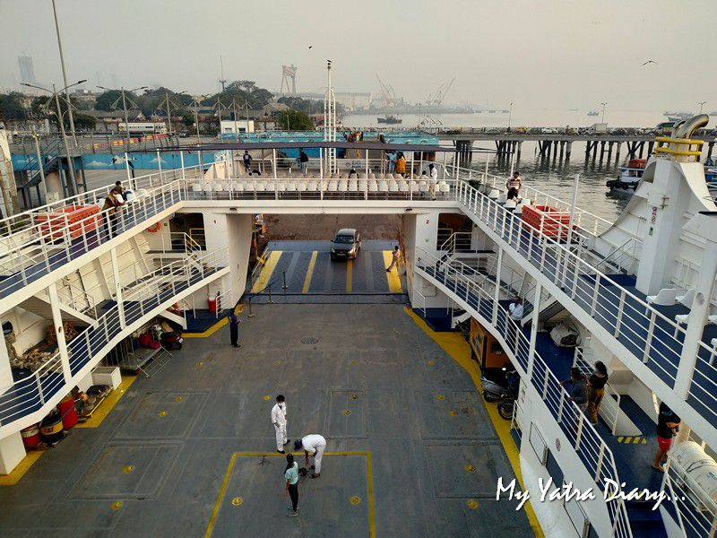 Entrance of the M2M Ro-Ro ferry Mumbai to  Alibagh