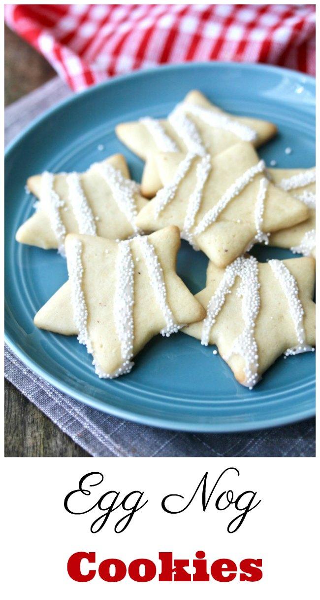 Eggnog Cookies Stars