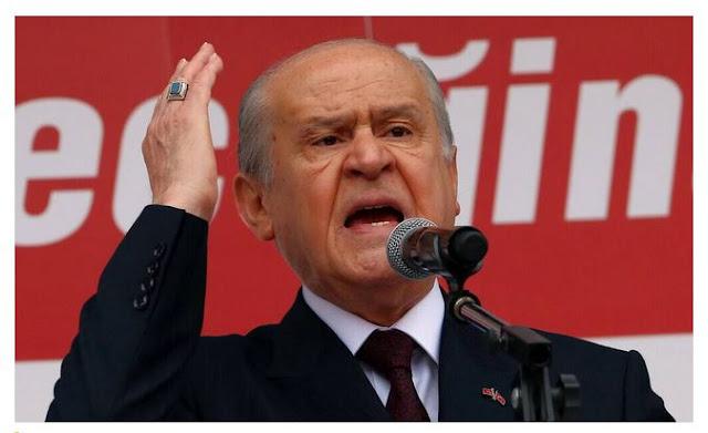 Προκλητική δήλωση  του αρχηγού των Γκρίζων Λύκων Μπαχτσελί: Η Τουρκία να μπει στο Ισραήλ.