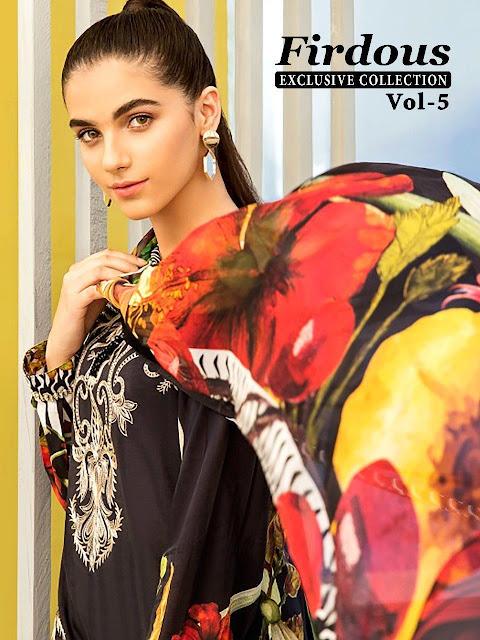 Shree Fab Firdous Vol 5 Cotton Print pakistani Suits wholesaler