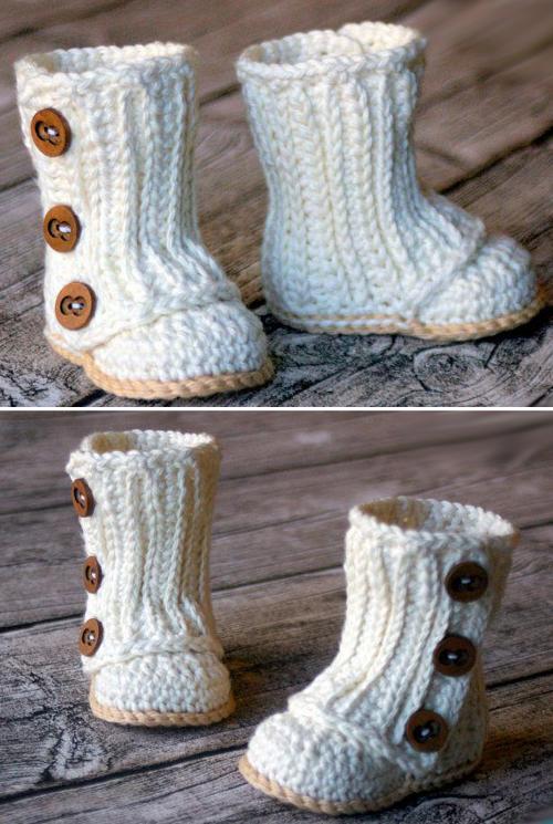 Crochet Baby Wrap Boots Pattern