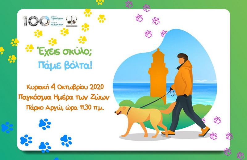 Ο Δήμος Αλεξανδρούπολης διοργανώνει περίπατο με δεσποζόμενα σκυλιά συντροφιάς