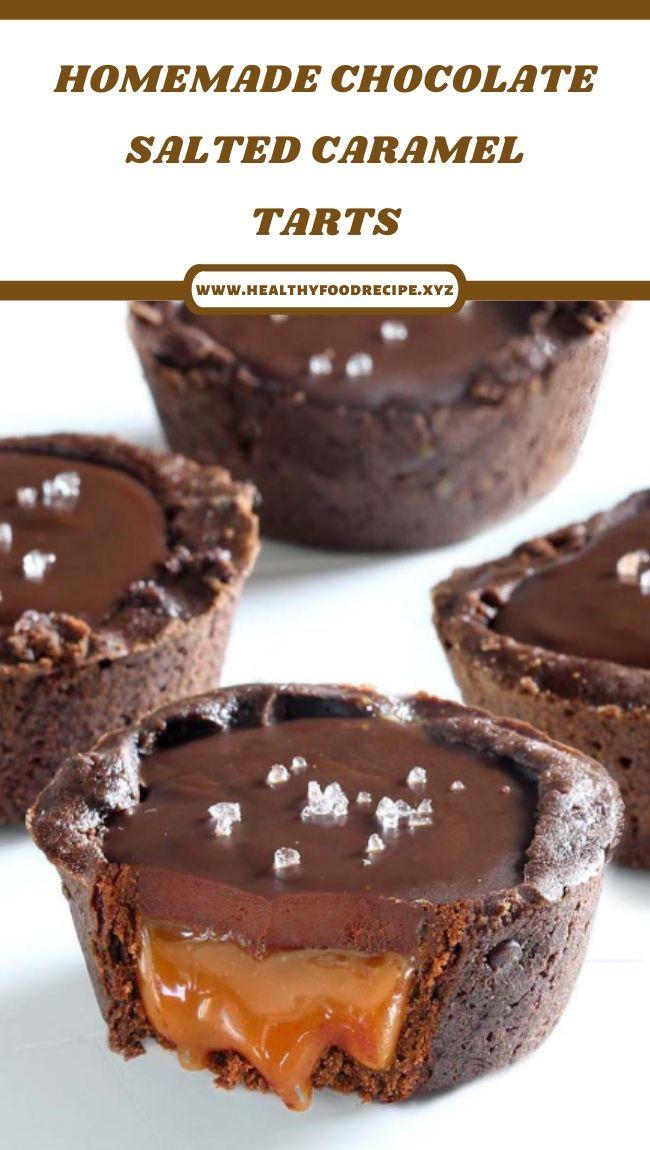 HOMEMADE CHOCOLATE SALTED CARAMEL TARTS